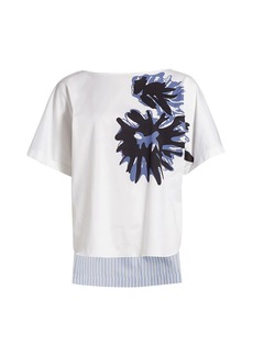 Piazza Sempione Print Crepe T-Shirt