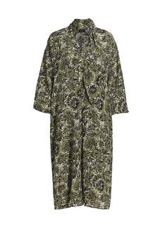 Piazza Sempione Print Silk Crepe de Chine Dress