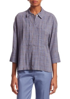 Piazza Sempione Printed Pleated Shirt
