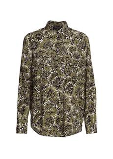 Piazza Sempione Printed Silk Crepe De Chine Shirt