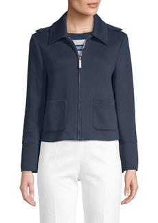 Piazza Sempione Scuba Jersey Cropped Jacket