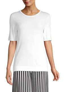 Piazza Sempione Short-Sleeve Knit Top