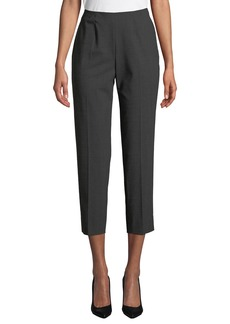 Piazza Sempione Side-Zip Skinny Cropped Pants