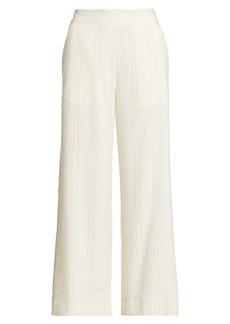 Piazza Sempione Silk & Linen Blend Cropped Pants