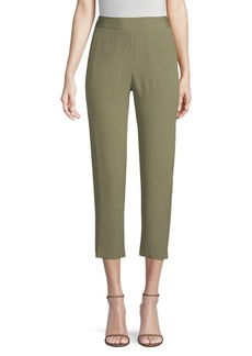 Piazza Sempione Silk-Blend Pull-On Cropped Pants