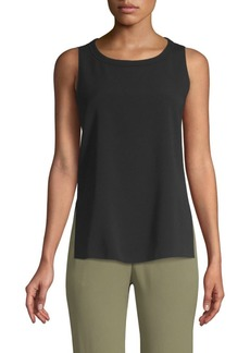 Piazza Sempione Sleeveless Vented Tank Top