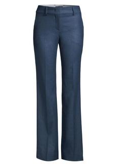 Piazza Sempione Straight-Leg Stretch-Wool Pants