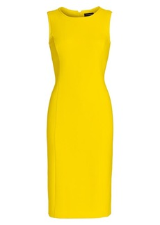 Piazza Sempione Stretch Cotton Sheath Dress