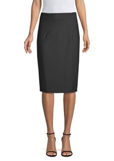Piazza Sempione Stretch Wool Pencil Skirt