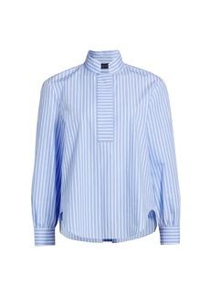 Piazza Sempione Stripe Cotton Poplin Shirt