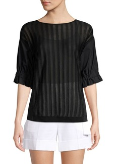 Piazza Sempione Striped Boatneck Top