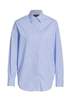 Piazza Sempione Striped Button Down Blouse