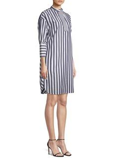 Piazza Sempione Striped Cotton Tunic Dress