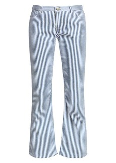 Piazza Sempione Striped Cropped Flare Pants