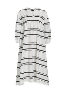 Piazza Sempione Striped Poplin Tunic Dress