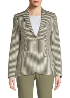 Piazza Sempione Striped Two-Button Blazer