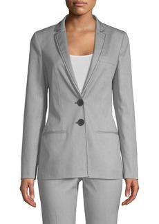 Piazza Sempione Striped Two-Button Blazer Jacket