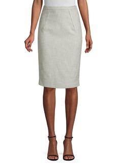 Piazza Sempione Textured Pencil Skirt