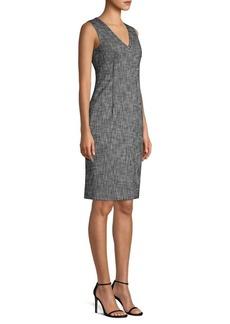 Piazza Sempione Textured Stretch Sheath Dress