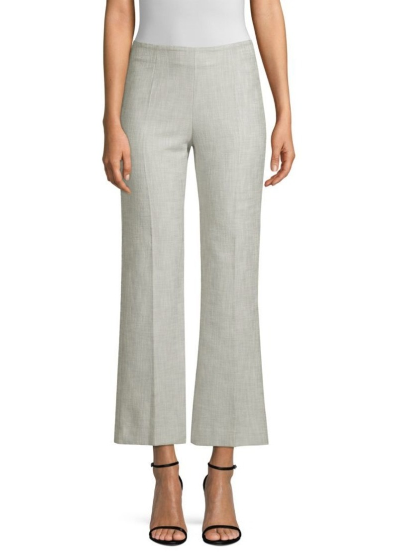 Piazza Sempione Textured Wide-Leg Cropped Pants