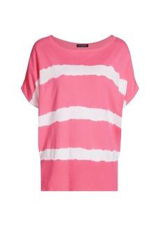 Piazza Sempione Tie-Dye Batwing Sleeve Boatneck T-Shirt