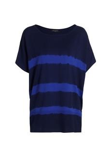 Piazza Sempione Tie-Dye Boatneck Knit T-Shirt