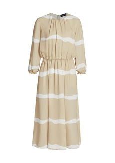 Piazza Sempione Tie-Dye Crepe Dress