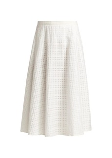 Piazza Sempione Tonal Checked A-Line Skirt