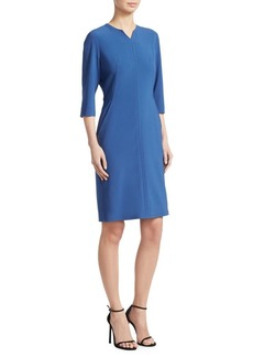 Piazza Sempione Tonal Seam Sheath Dress