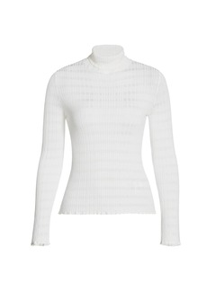 Piazza Sempione Tonal Stripe Turtleneck