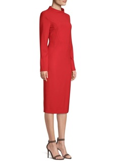 Piazza Sempione Tubino Funnel-Neck Sheath Dress
