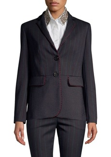 Piazza Sempione Two-Button Fitted Blazer
