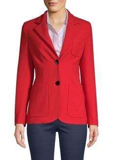 Piazza Sempione Two-Button Stretch Gabardine Blazer