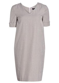 Piazza Sempione V-neck Striped Shift Dress