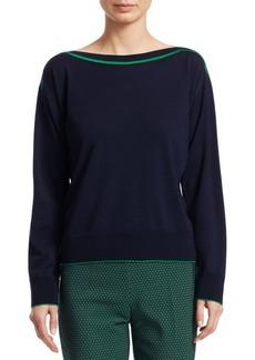 Piazza Sempione Virgin Wool Boatneck Sweater