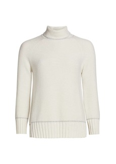Piazza Sempione Wool-Blend Lurex Turtleneck Sweater
