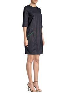 Piazza Sempione Wool-Blend Shift Dress