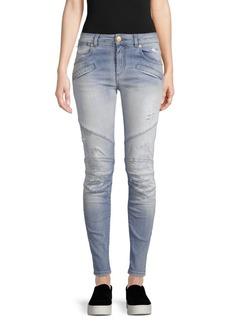 Pierre Balmain Destroyed Skinny Jeans