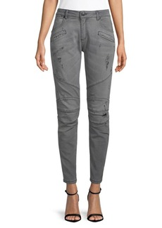 Pierre Balmain Distressed Ankle Jeans