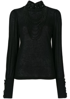 Pierre Balmain embellished top