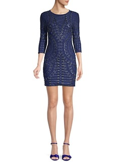 Pierre Balmain Embroidered Mini Sheath Dress