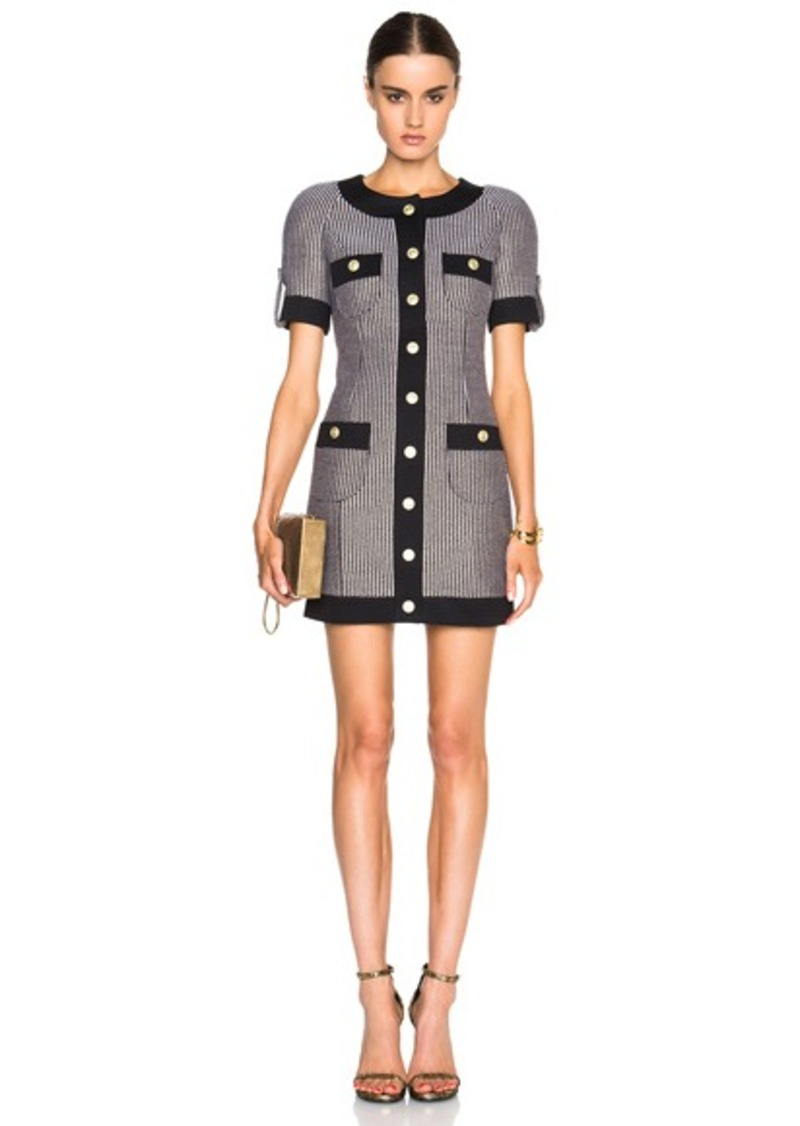 Pierre Balmain Button Front Mini Dress