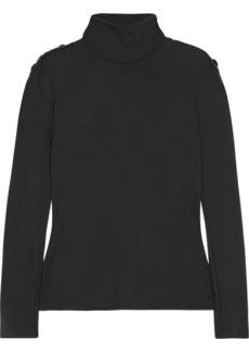 Pierre Balmain Embellished wool turtleneck sweater