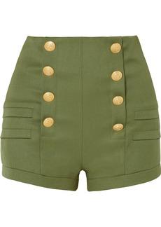 Pierre Balmain Grain De Poudre Wool Shorts