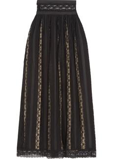 Pierre Balmain Lace and chiffon maxi skirt