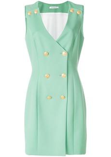 Pierre Balmain V-neck button over dress - Green