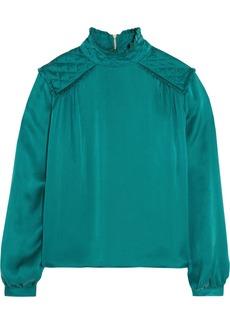 Pierre Balmain Washed-silk blouse
