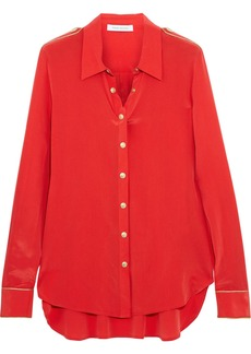 Pierre Balmain Washed-silk blouse