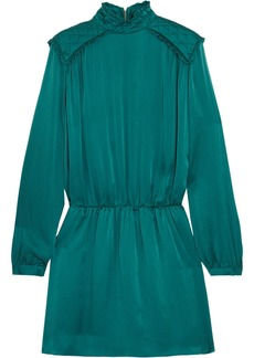 Pierre Balmain Washed-silk mini dress