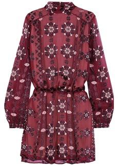 Pierre Balmain Woman Appliquéd Chiffon Mini Dress Plum